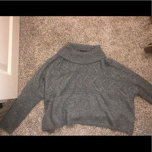 super soft gray cropped sweater